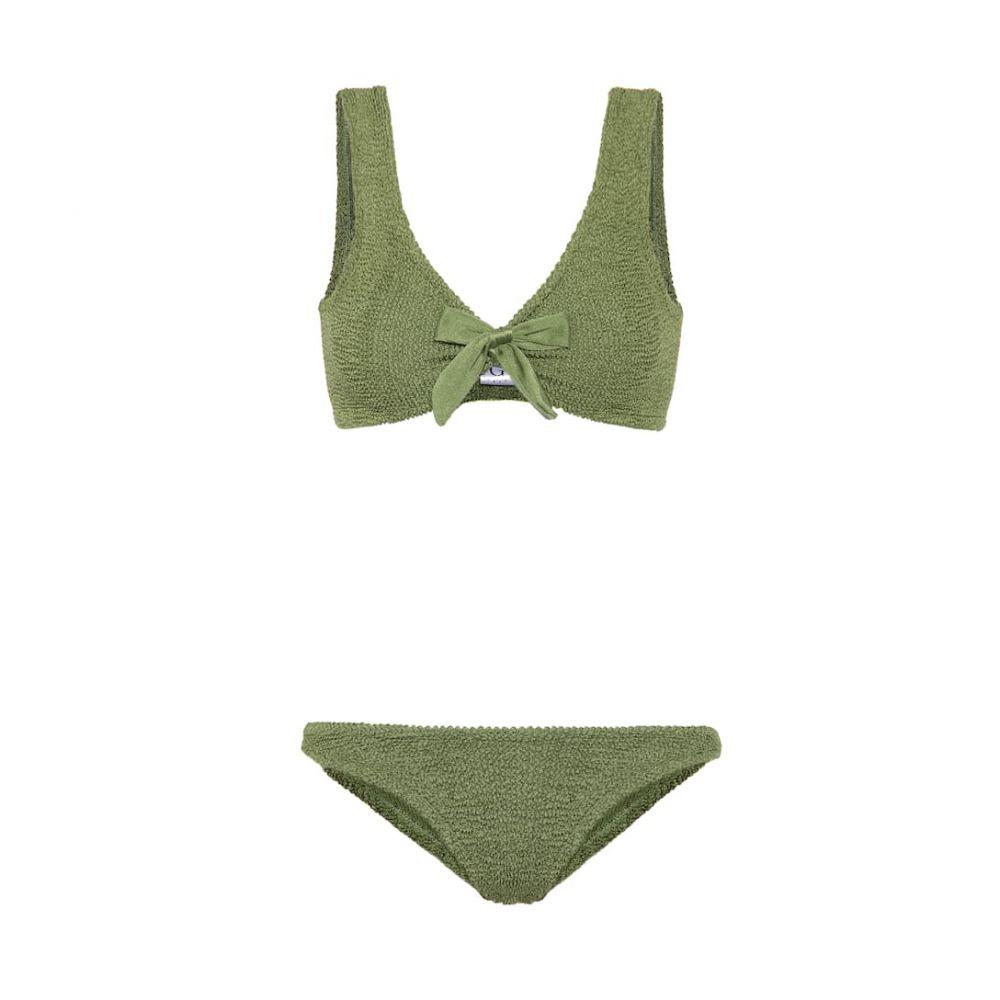 フンザG Hunza G レディース 上下セット 水着・ビーチウェア【angela bikini】Metallic Moss