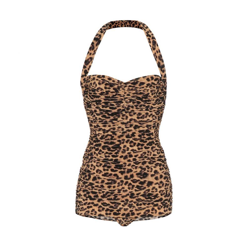 ノーマ カマリ Norma Kamali レディース ワンピース 水着・ビーチウェア【bill leopard-print swimsuit】Golden Leopard