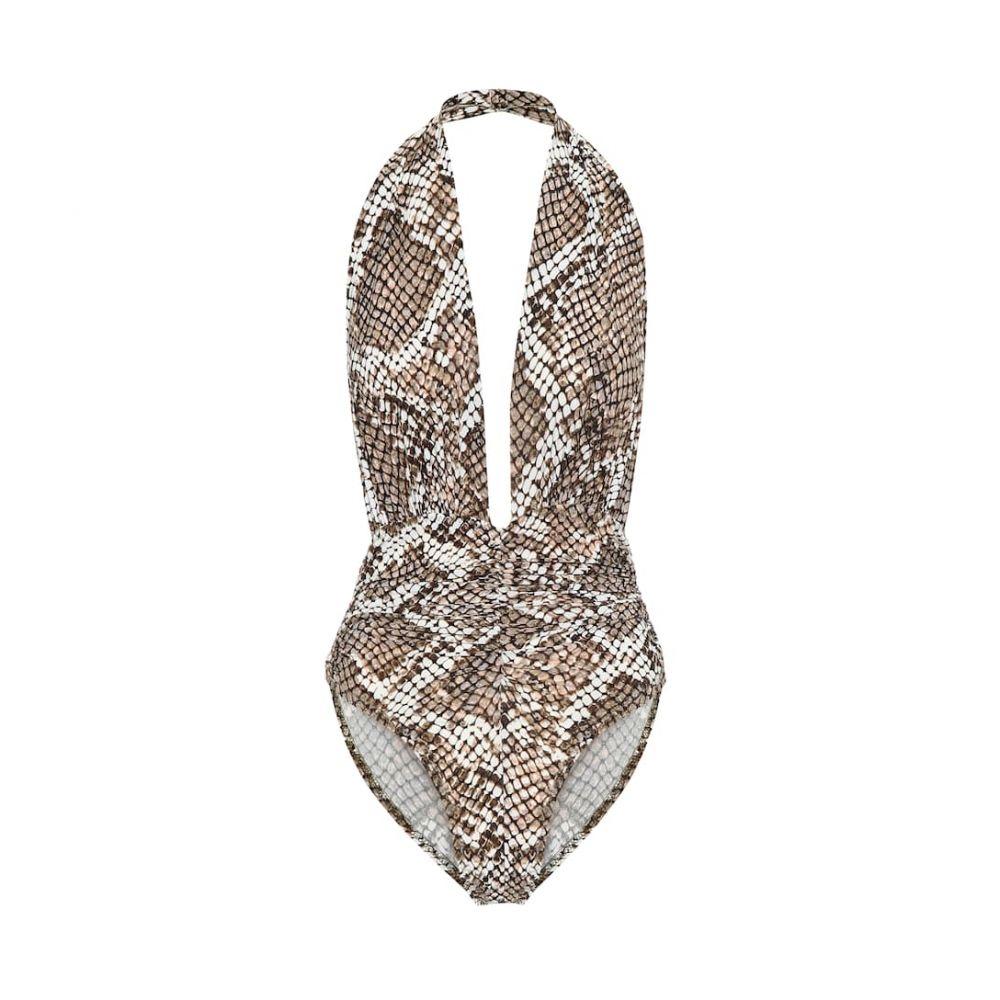 ノーマ カマリ Norma Kamali レディース ワンピース 水着・ビーチウェア【marissa snake-print swimsuit】Scale Python