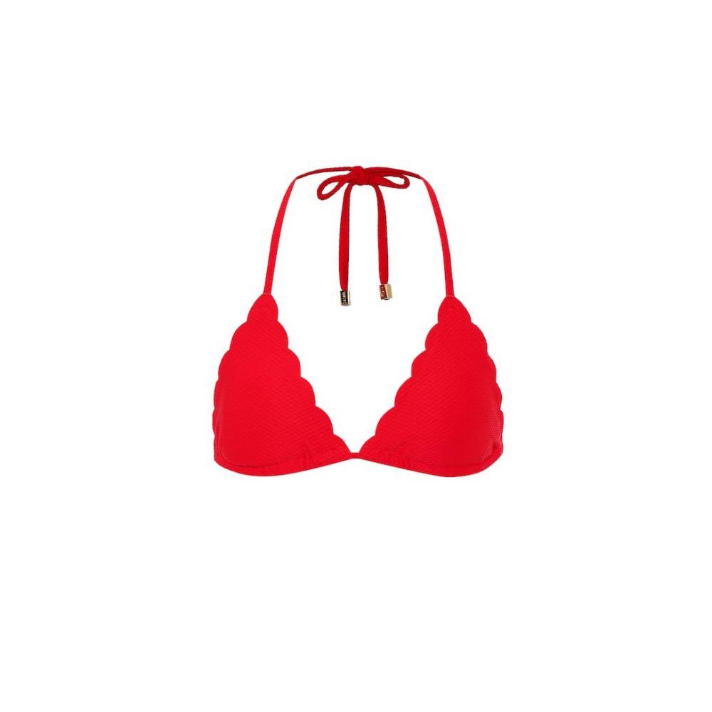 ハイジ クライン Heidi Klein レディース トップのみ 水着・ビーチウェア【pampelonne scalloped bikini top】Red