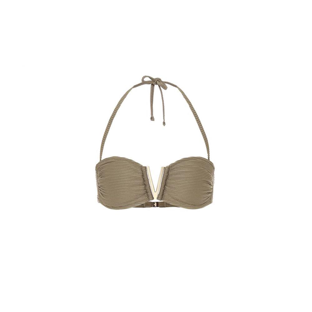 ハイジ クライン Heidi Klein レディース トップのみ 水着・ビーチウェア【venice v-bar bandeau bikini top】Green Khaki