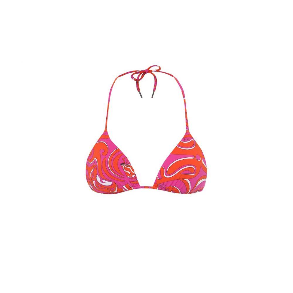 エミリオ プッチ Emilio Pucci Beach レディース トップのみ 水着・ビーチウェア【printed bikini top】Arancio/Fuxia