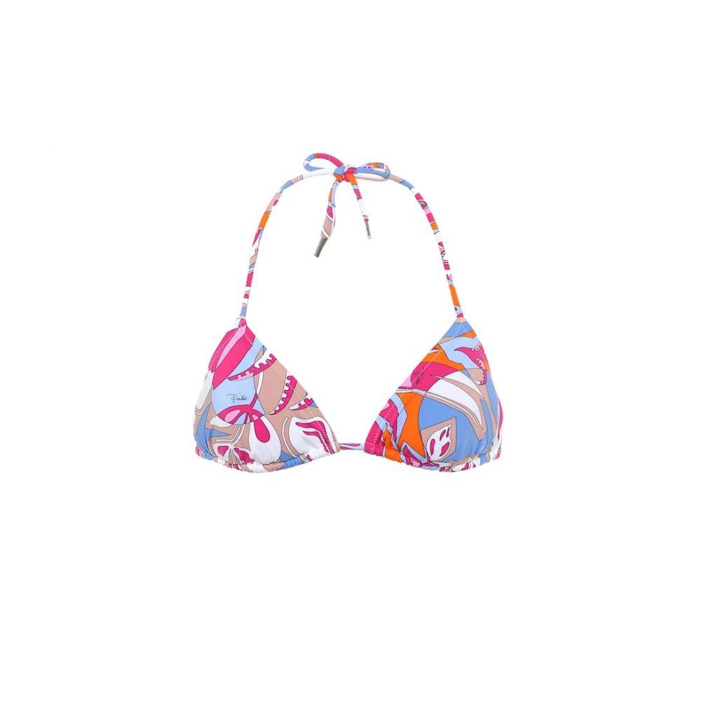 エミリオ プッチ Emilio Pucci Beach レディース トップのみ 水着・ビーチウェア【printed triangle bikini top】Fuxia/Azzurro