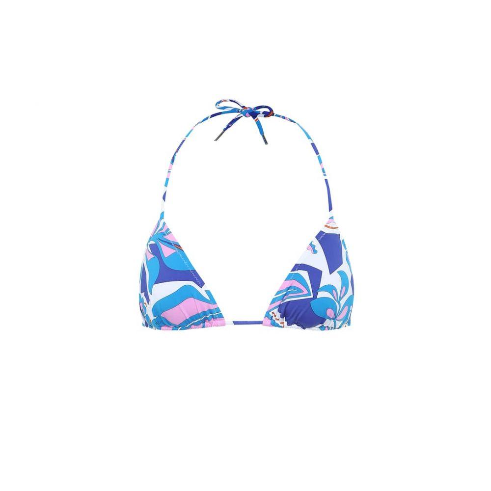 エミリオ プッチ Emilio Pucci Beach レディース トップのみ 水着・ビーチウェア【printed triangle bikini top】Turchese/Peonia