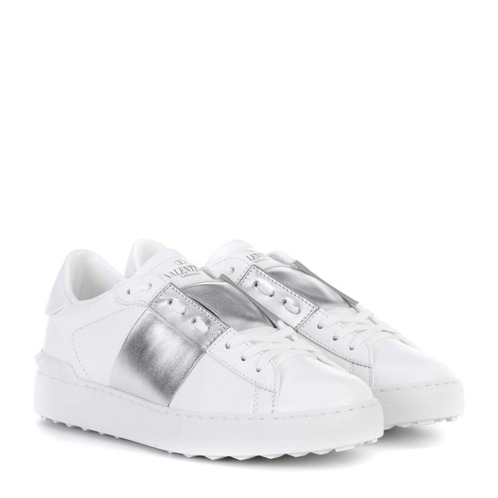 ヴァレンティノ Valentino レディース スニーカー シューズ・靴【garavani open metallic leather sneakers】Silver