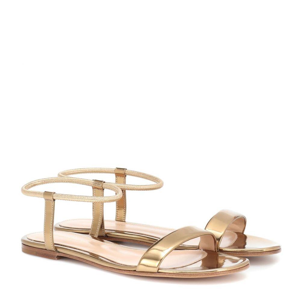 ジャンヴィト ロッシ Gianvito Rossi レディース サンダル・ミュール シューズ・靴【jaime 05 metallic leather sandals】Mekong