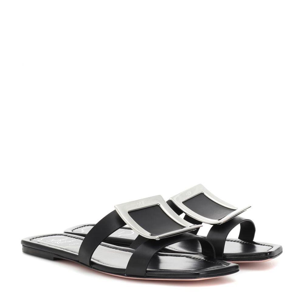 ロジェ ヴィヴィエ Roger Vivier レディース サンダル・ミュール シューズ・靴【biki viv' leather slides】Nero