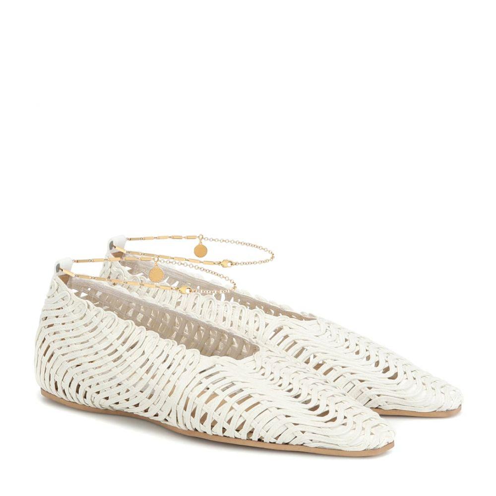 ステラ マッカートニー Stella McCartney レディース スリッポン・フラット シューズ・靴【woven ballet flats】Ivory/White