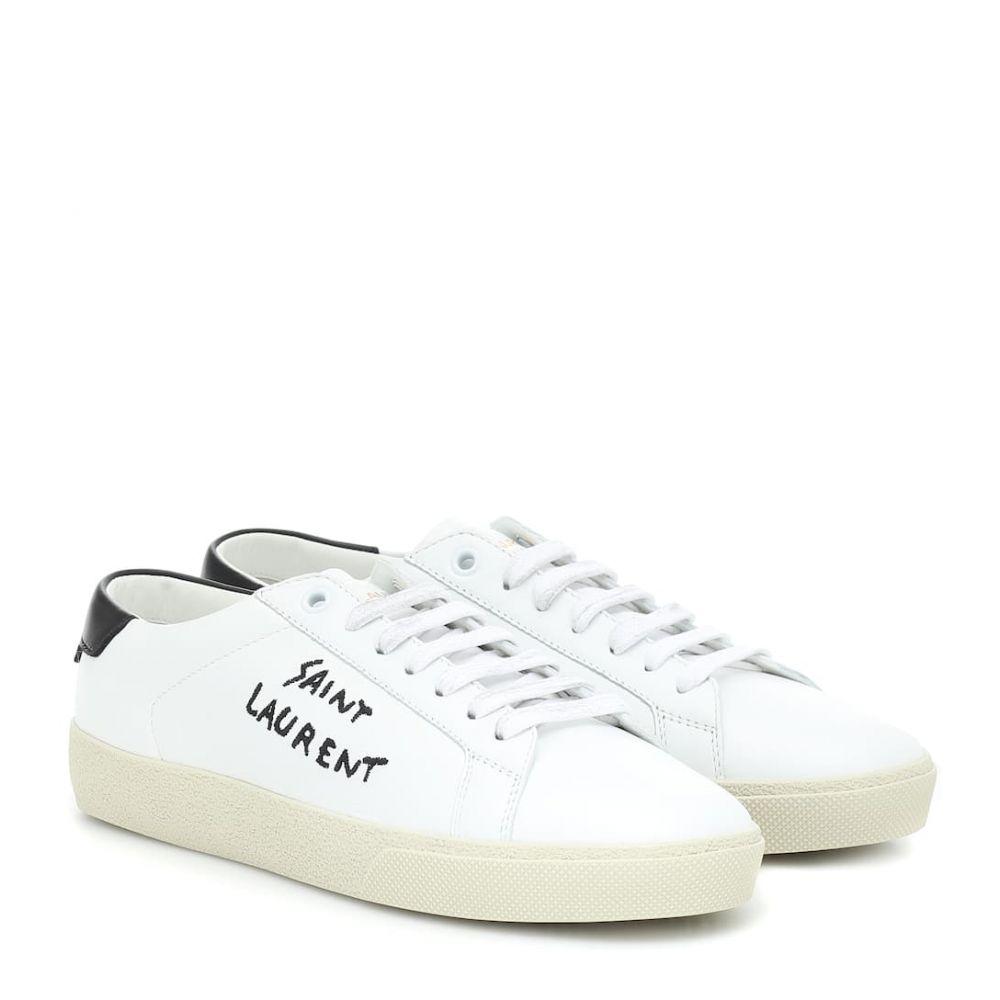 イヴ サンローラン Saint Laurent レディース スニーカー シューズ・靴【court classic sl/06 sneakers】Blanc Optoque/Noir (Noir)