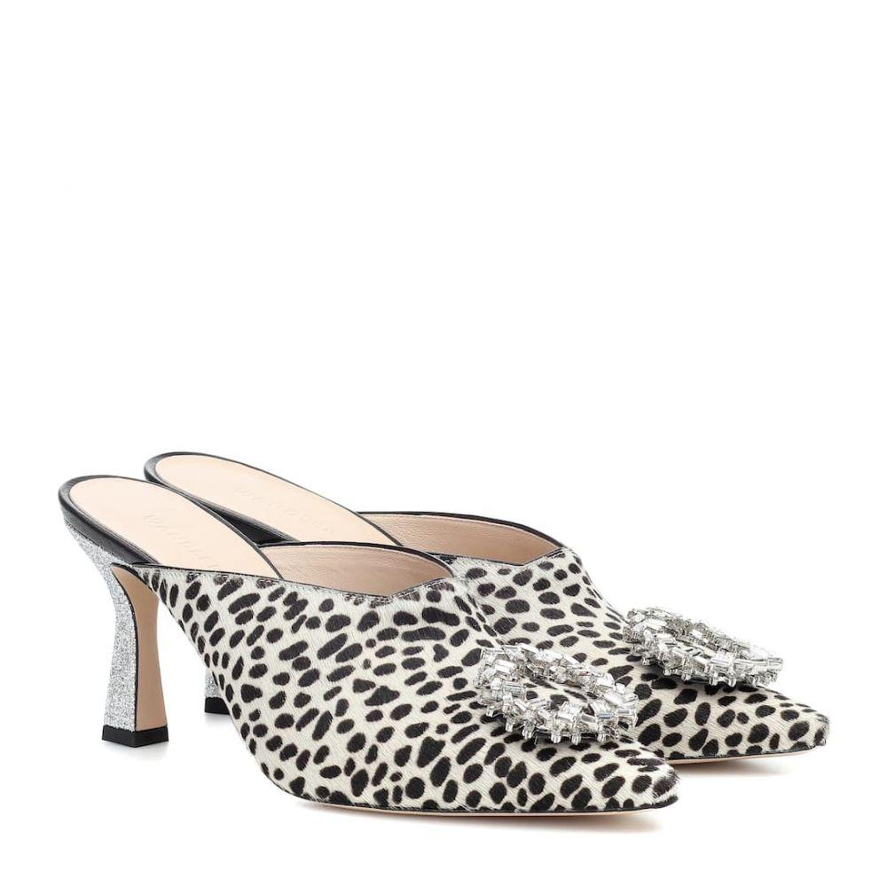 ワンダラー Wandler レディース サンダル・ミュール シューズ・靴【lotte embellished calf-hair mules】Dalmatian