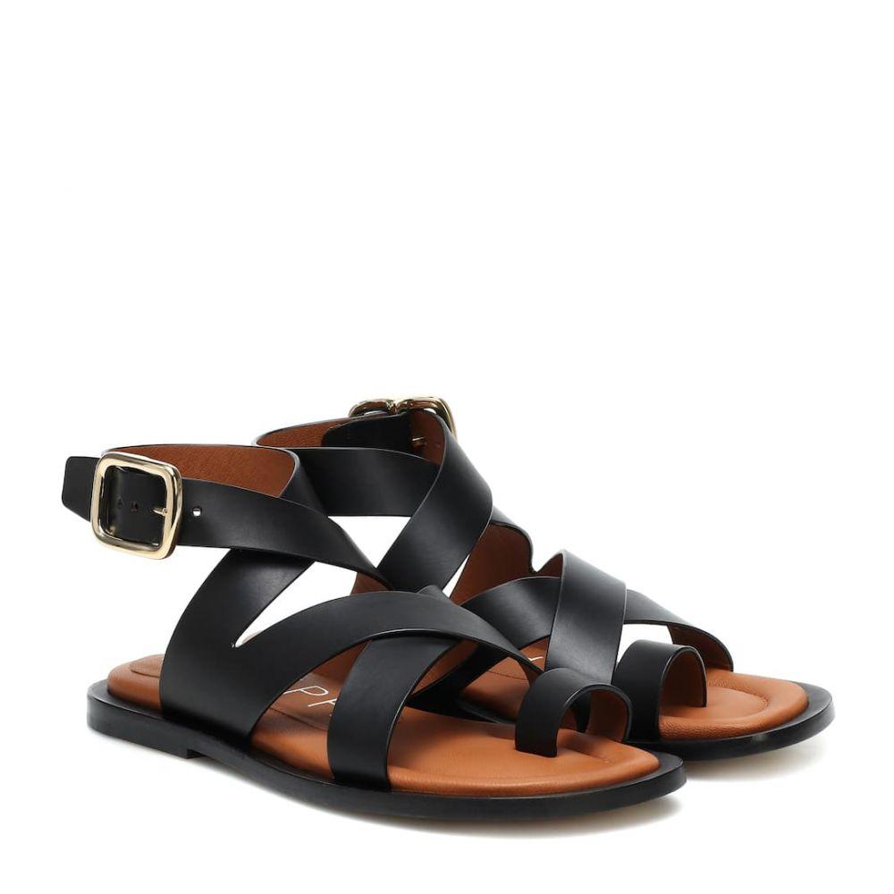 ジョゼフ Joseph レディース サンダル・ミュール シューズ・靴【leather sandals】Nero