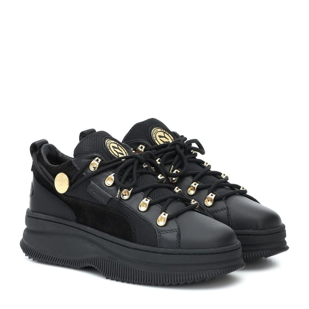 プーマ Puma レディース スニーカー シューズ・靴【x balmain deva leather sneakers】Puma Black