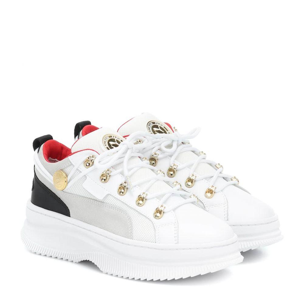 プーマ Puma レディース スニーカー シューズ・靴【x balmain deva leather sneakers】Puma White-Puma Black