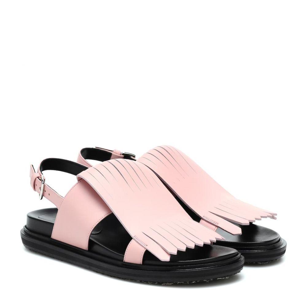 マルニ Marni レディース サンダル・ミュール シューズ・靴【fringed leather sandals】
