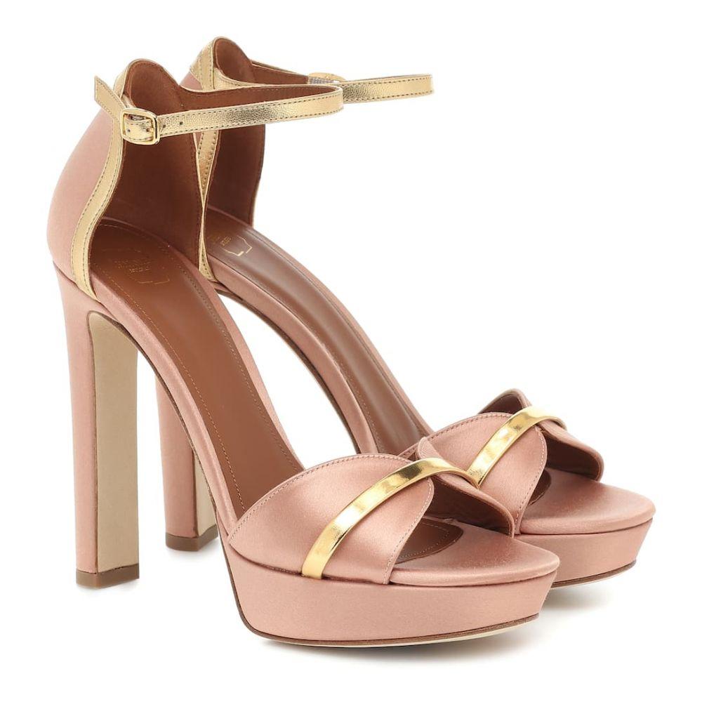 マローンスリアーズ Malone Souliers レディース サンダル・ミュール シューズ・靴【miranda 125 satin sandals】Blush Gold