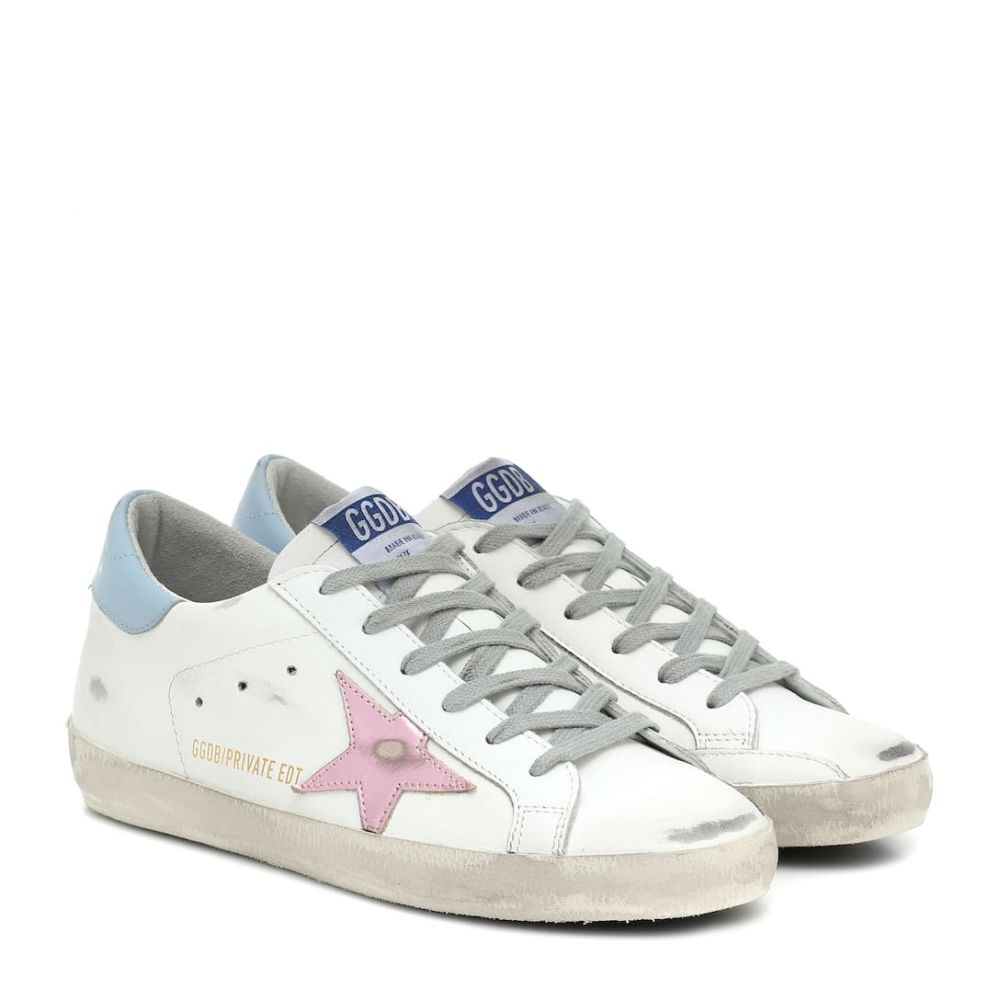 ゴールデン グース Golden Goose レディース スニーカー シューズ・靴【superstar leather sneakers】MYT-White Leather-Pink Laminat