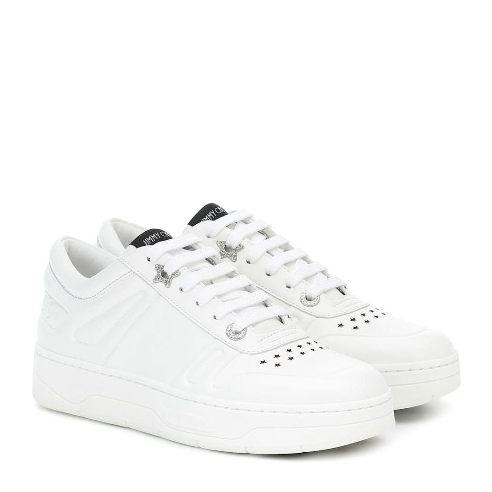 ジミー チュウ Jimmy Choo レディース スニーカー シューズ・靴【hawaii f leather sneakers】X White