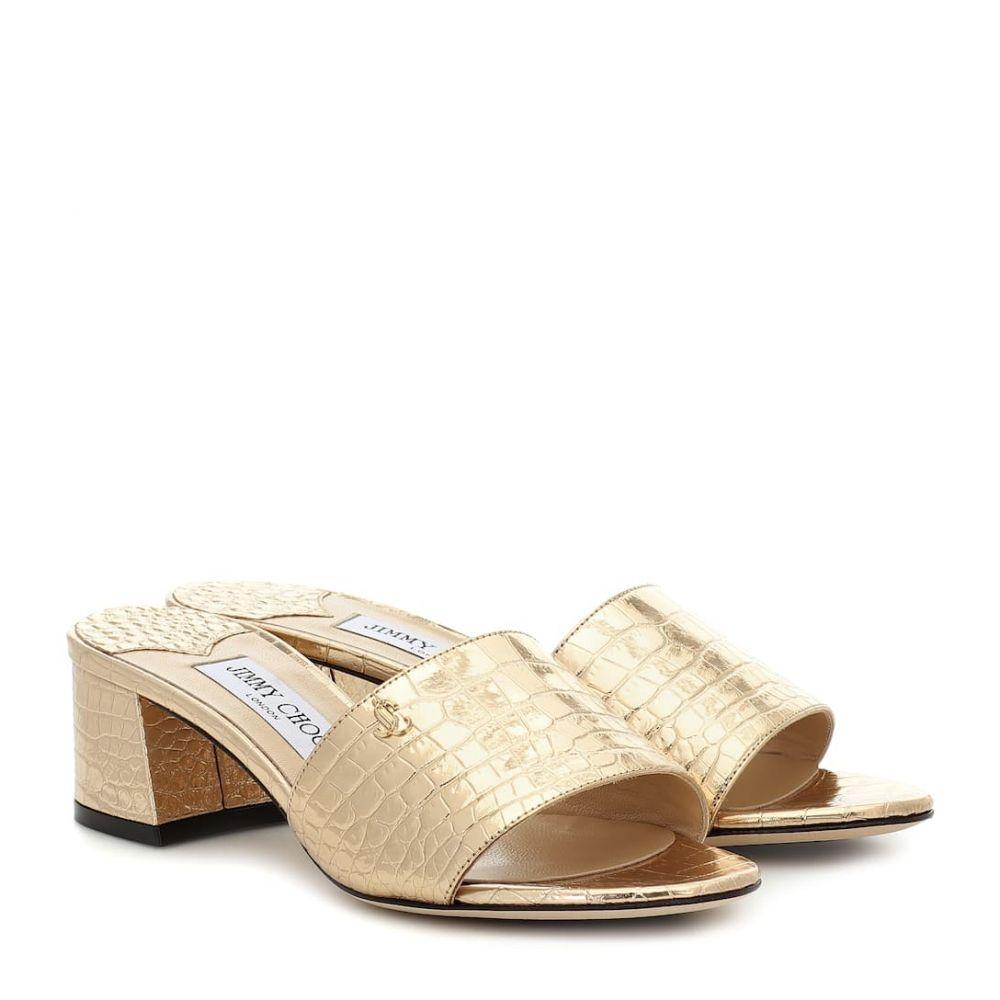 ジミー チュウ Jimmy Choo レディース サンダル・ミュール シューズ・靴【minea 45 metallic leather sandals】Light Gold