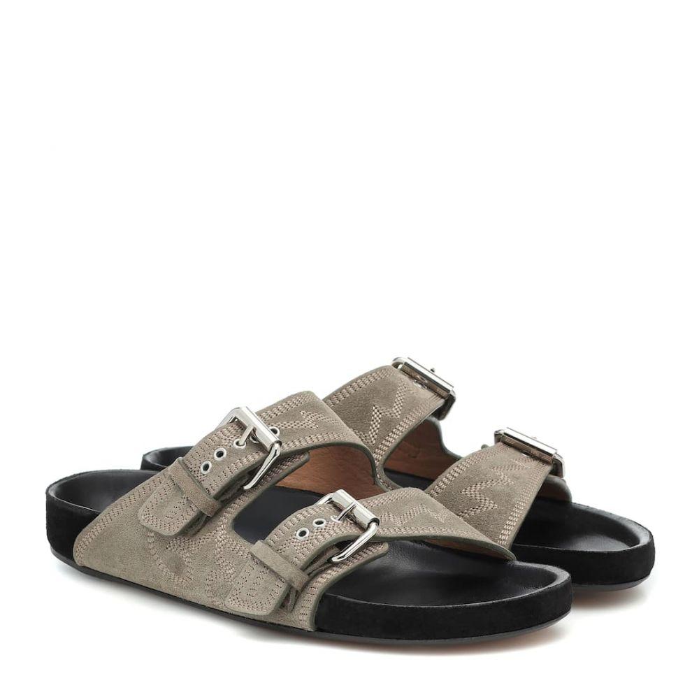 イザベル マラン Isabel Marant レディース サンダル・ミュール シューズ・靴【lennyo embroidered suede sandals】Taupe