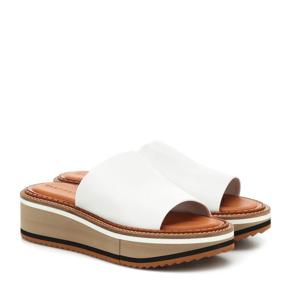 ロベール クレジュリー Clergerie レディース サンダル・ミュール シューズ・靴【fast3 leather platform slides】White