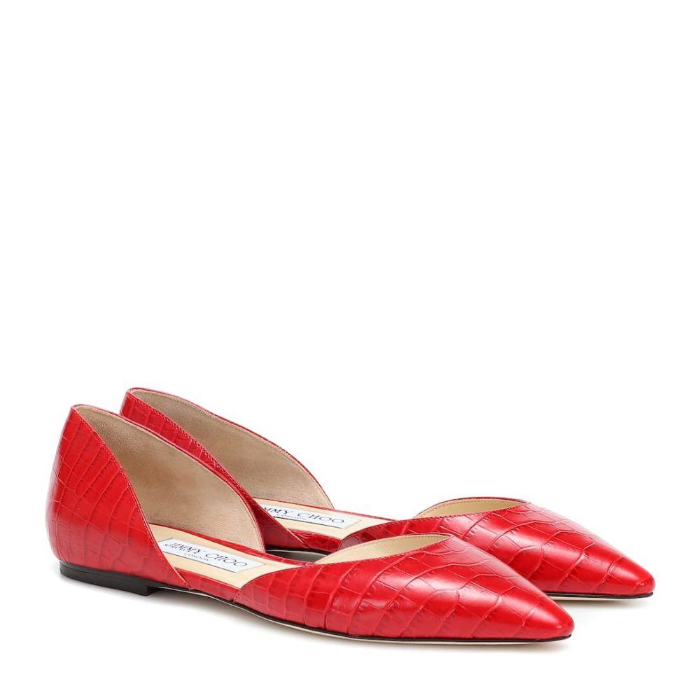 ジミー チュウ Jimmy Choo レディース スリッポン・フラット シューズ・靴【esther leather ballet flats】Red