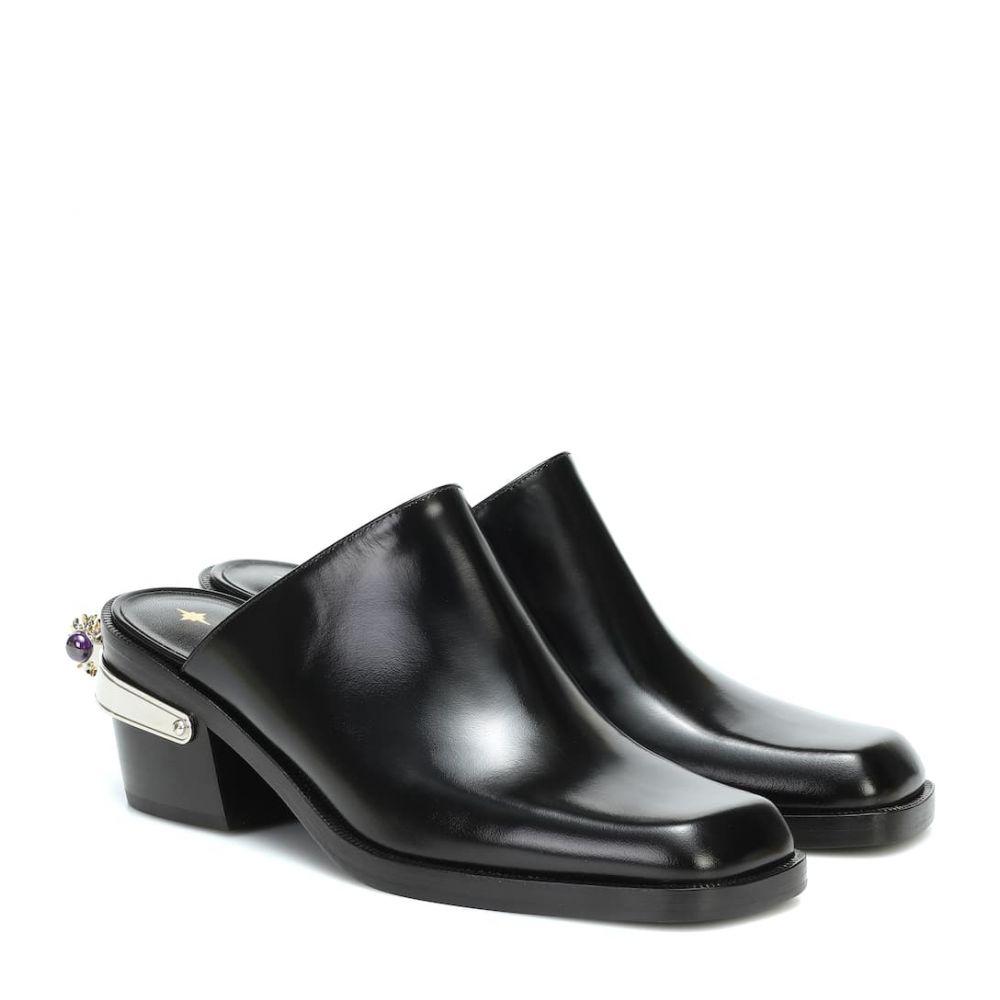 ノダレト Nodaleto レディース サンダル・ミュール シューズ・靴【bulla western leather mules】Black Glassed
