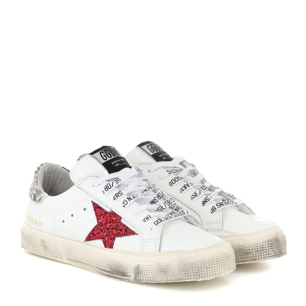 ゴールデン グース Golden Goose レディース スニーカー シューズ・靴【may leather sneakers】White Leather-Red Glitter Star