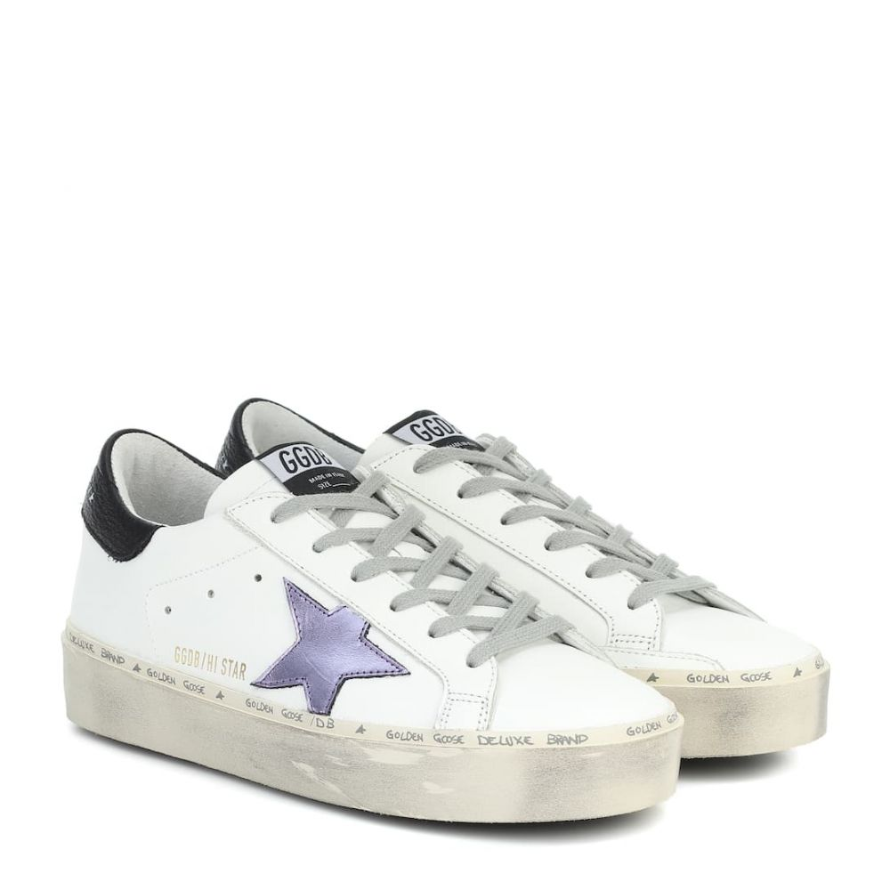 ゴールデン グース Golden Goose レディース スニーカー シューズ・靴【hi star leather sneakers】White Leather-Lilla Laminated