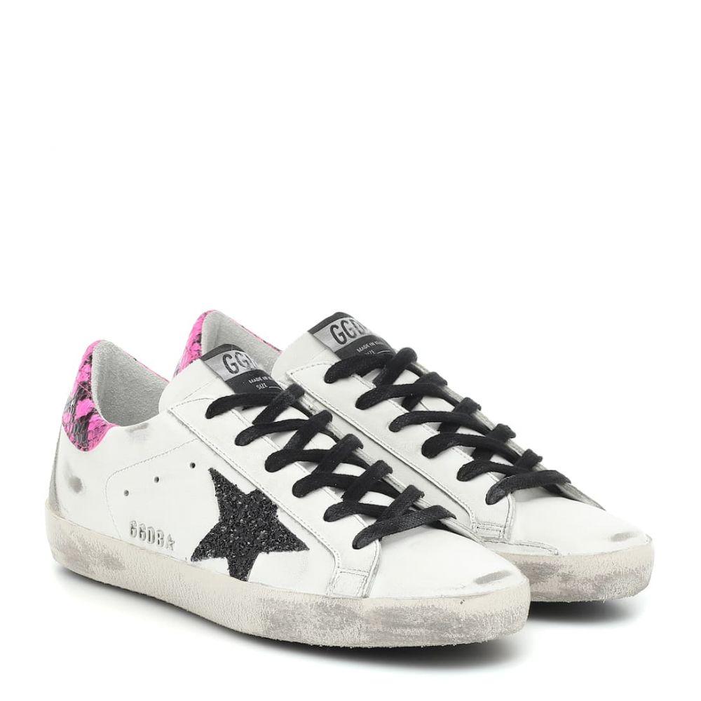 ゴールデン グース Golden Goose レディース スニーカー シューズ・靴【superstar leather sneakers】White Leather-Fuxia Phyton Gli