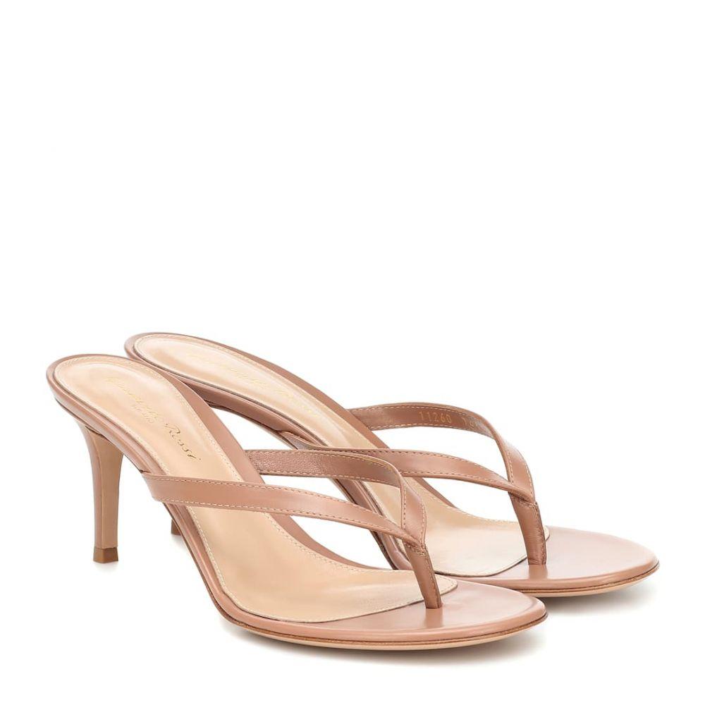 ジャンヴィト ロッシ Gianvito Rossi レディース サンダル・ミュール シューズ・靴【calypso 70 leather sandals】Praline