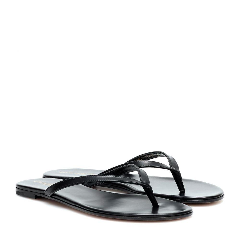 ジャンヴィト ロッシ Gianvito Rossi レディース サンダル・ミュール シューズ・靴【leather sandals】Black