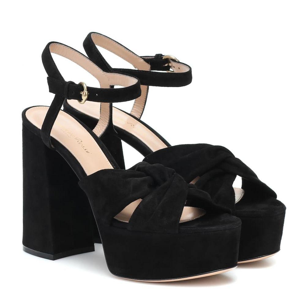 ジャンヴィト ロッシ Gianvito Rossi レディース サンダル・ミュール シューズ・靴【suede plateau sandals】Black