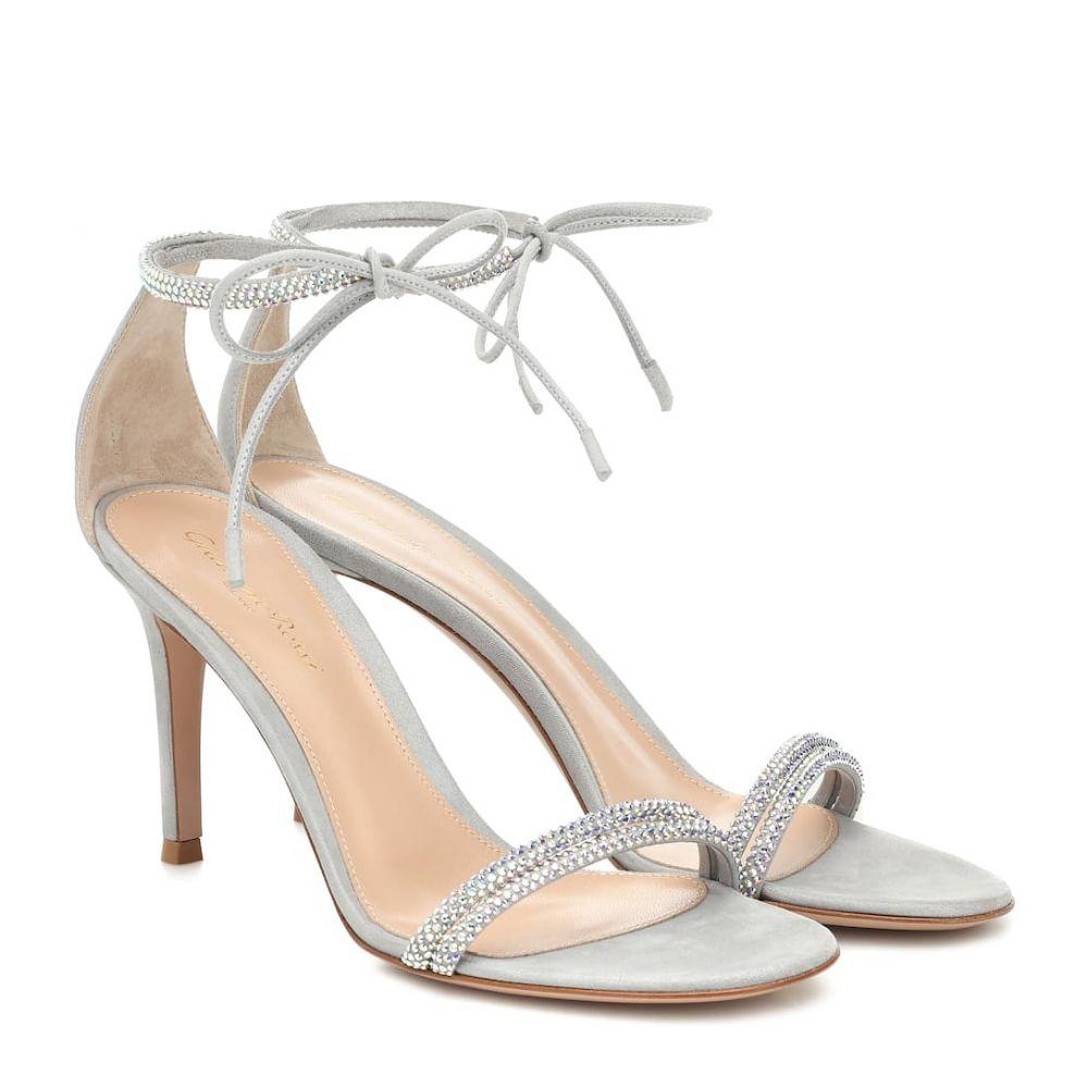 ジャンヴィト ロッシ Gianvito Rossi レディース サンダル・ミュール シューズ・靴【pascale 85 embellished sandals】Silver