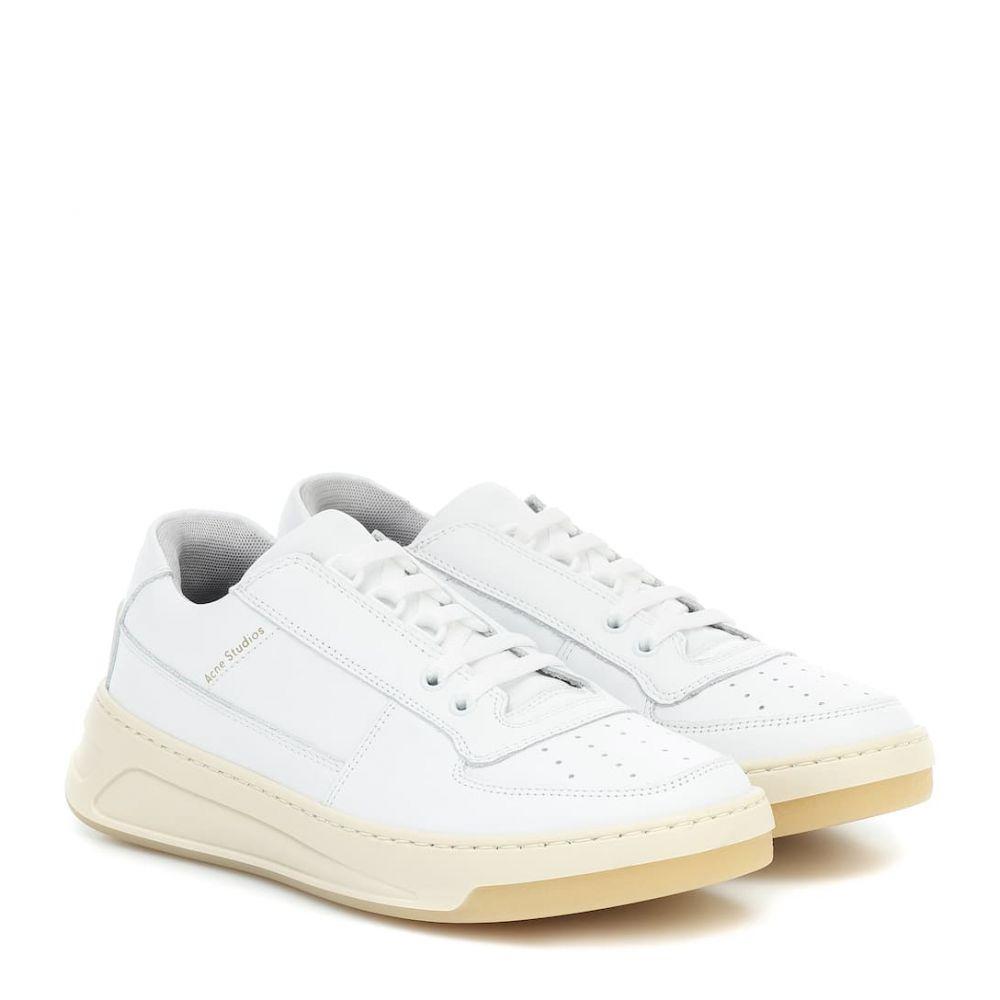 アクネ ストゥディオズ Acne Studios レディース スニーカー シューズ・靴【steffey leather sneakers】White/White