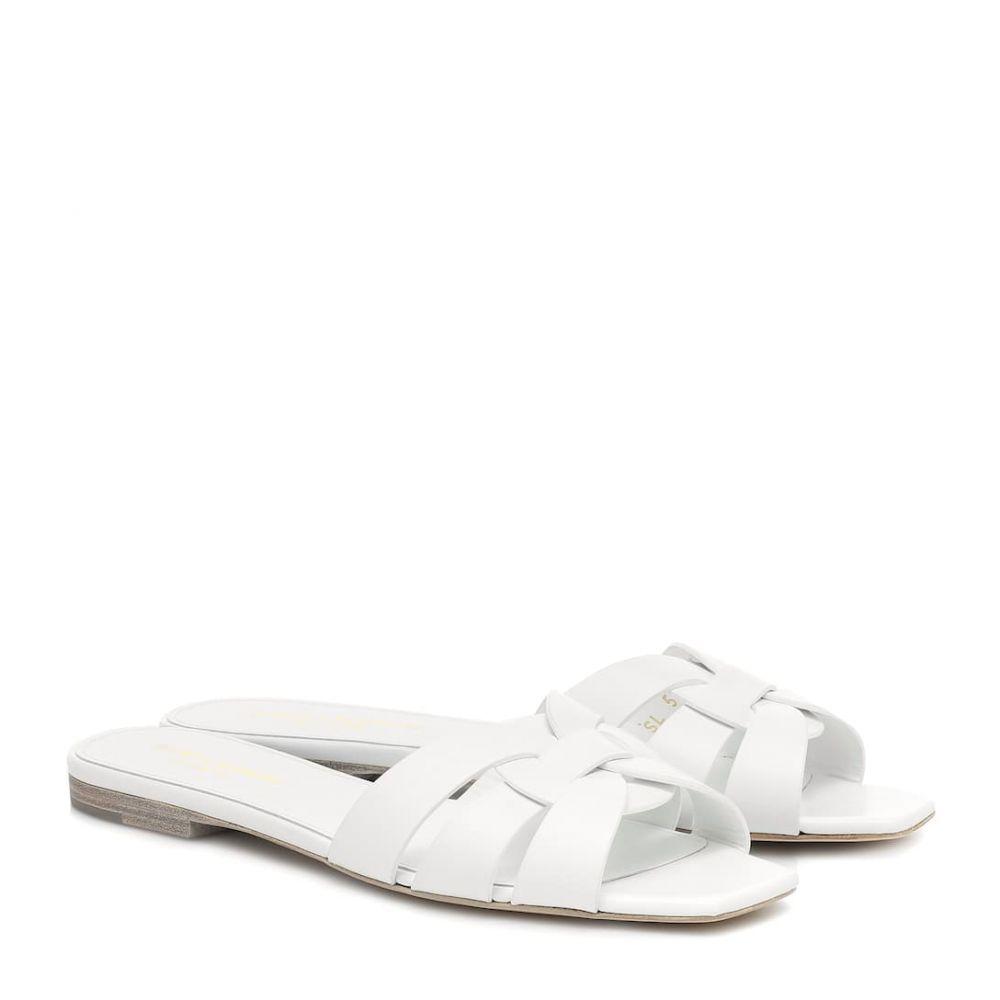 イヴ サンローラン Saint Laurent レディース サンダル・ミュール シューズ・靴【tribute nu pieds leather sandals】Blanc Optique