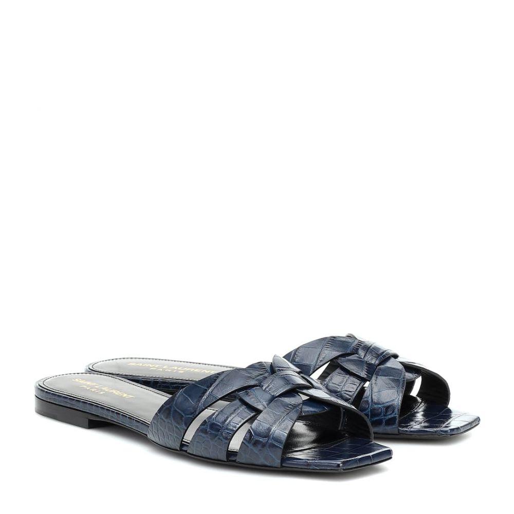 イヴ サンローラン Saint Laurent レディース サンダル・ミュール シューズ・靴【nu pieds 05 leather sandals】Cobalt