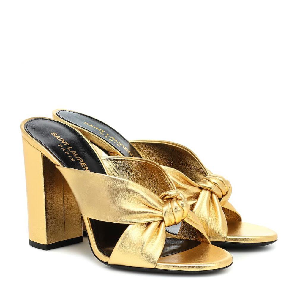 イヴ サンローラン Saint Laurent レディース サンダル・ミュール シューズ・靴【loulou 100 metallic leather sandals】