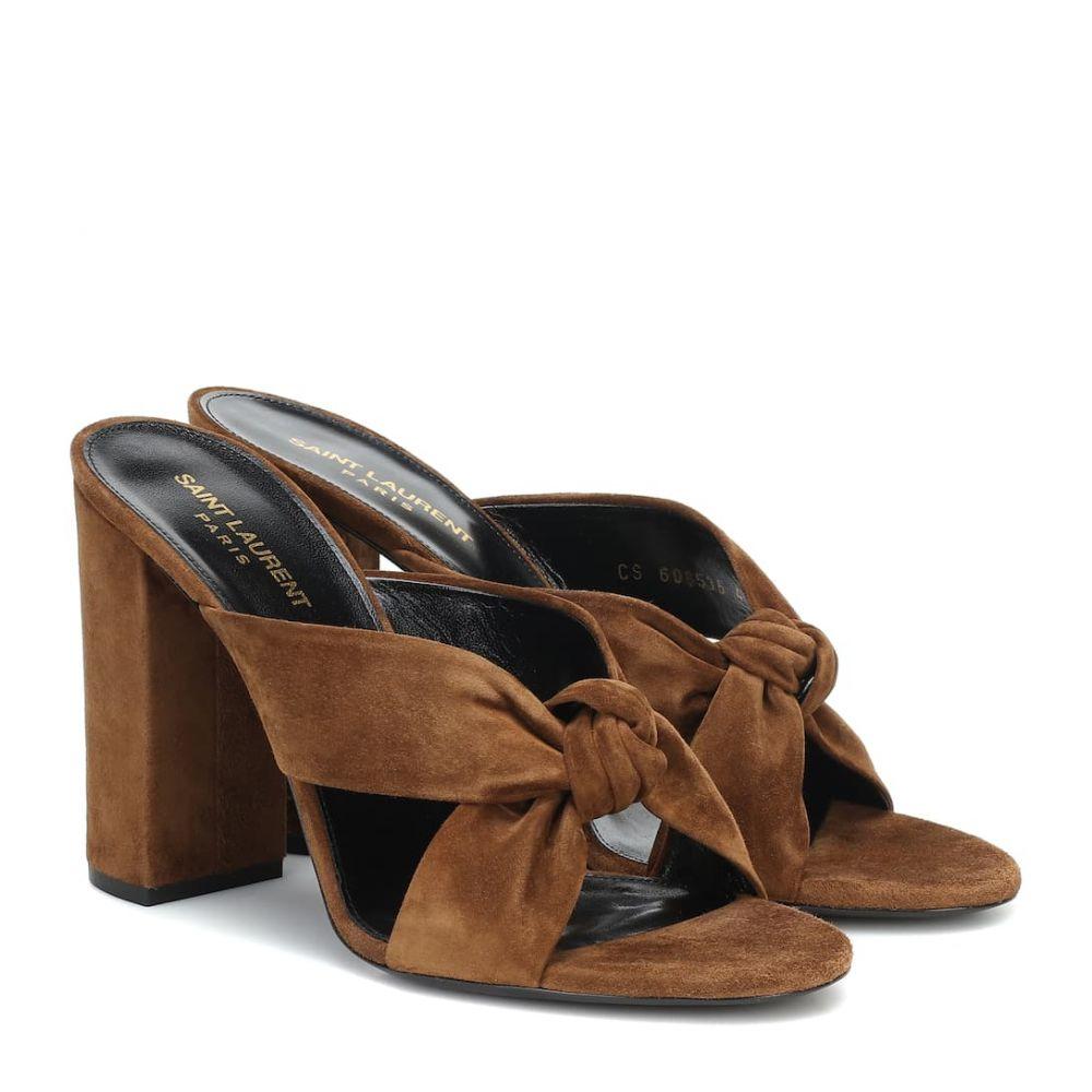 イヴ サンローラン Saint Laurent レディース サンダル・ミュール シューズ・靴【loulou 100 suede sandals】Land
