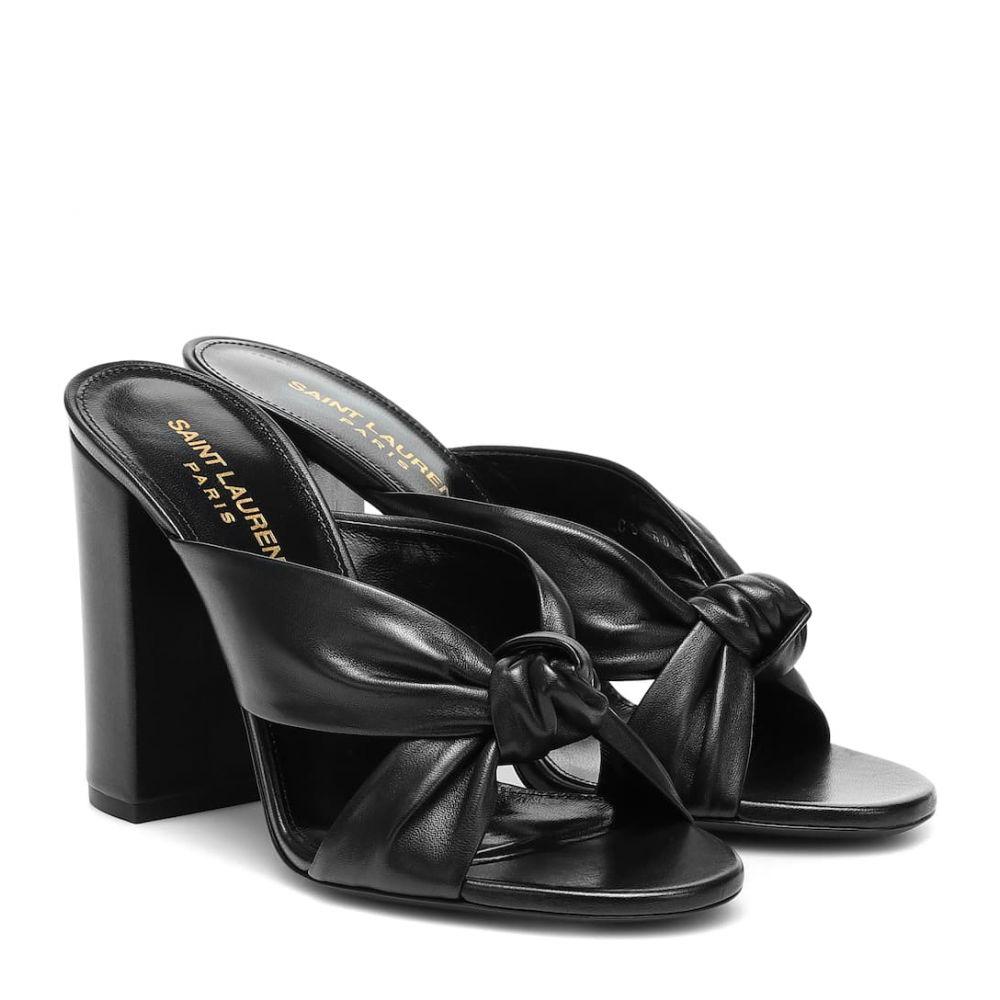 イヴ サンローラン Saint Laurent レディース サンダル・ミュール シューズ・靴【loulou 100 leather sandals】Noir
