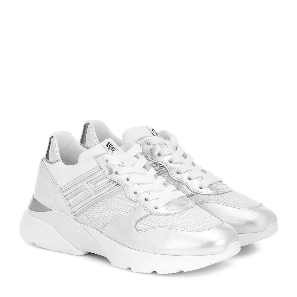 ホーガン Hogan レディース スニーカー シューズ・靴【h385 active one leather sneakers】Bianco/Argento