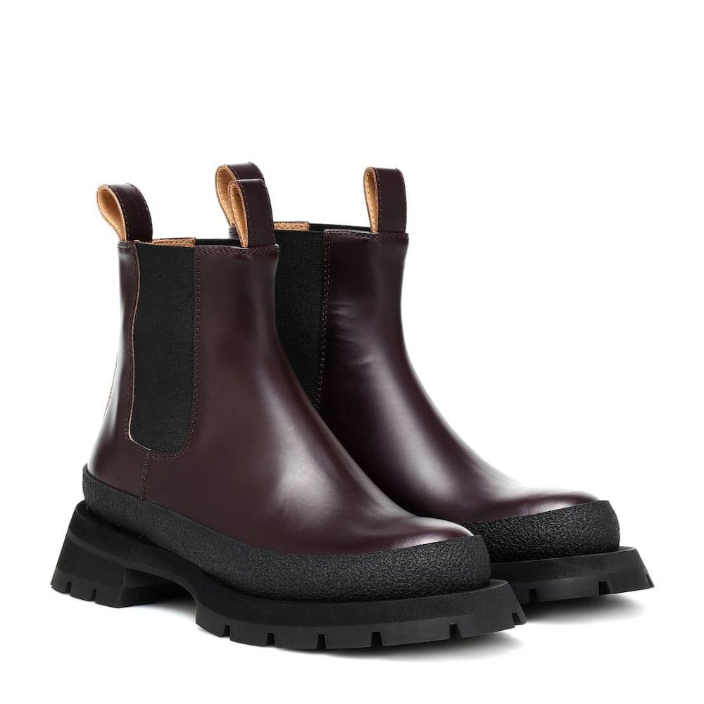ジル サンダー Jil Sander レディース ブーツ ショートブーツ シューズ・靴【leather ankle boots】Burgundy