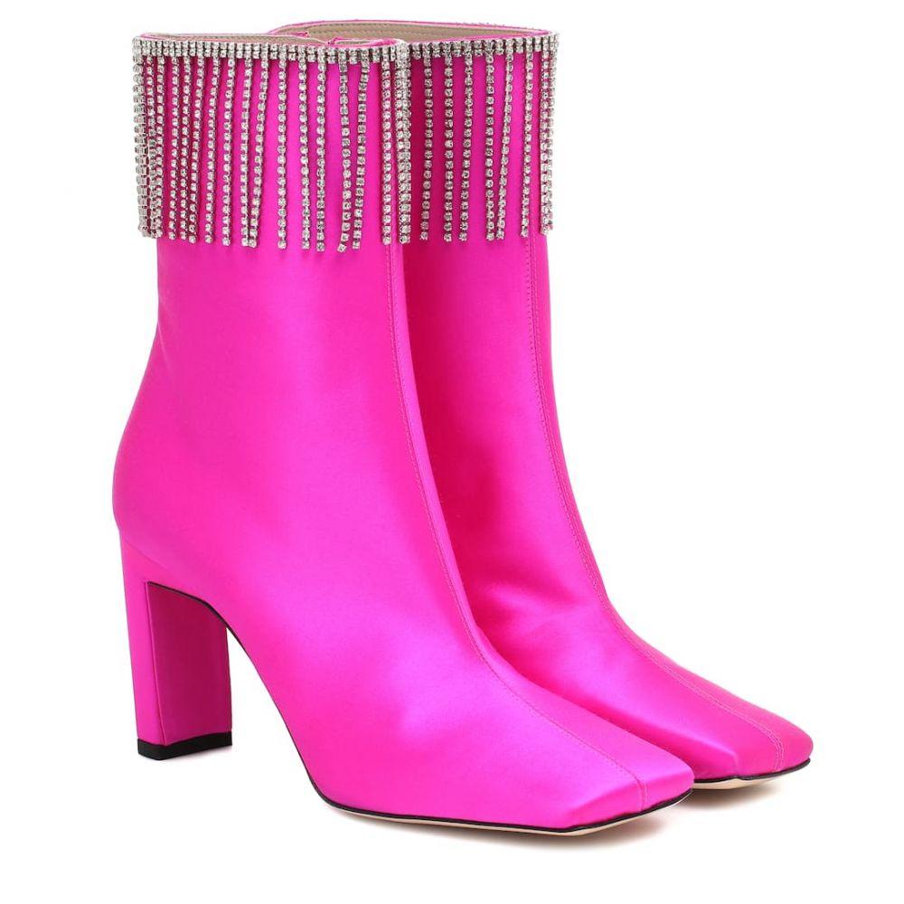 ワンダラー Wandler レディース ブーツ ショートブーツ シューズ・靴【isa embellished satin ankle boots】Candy Satin