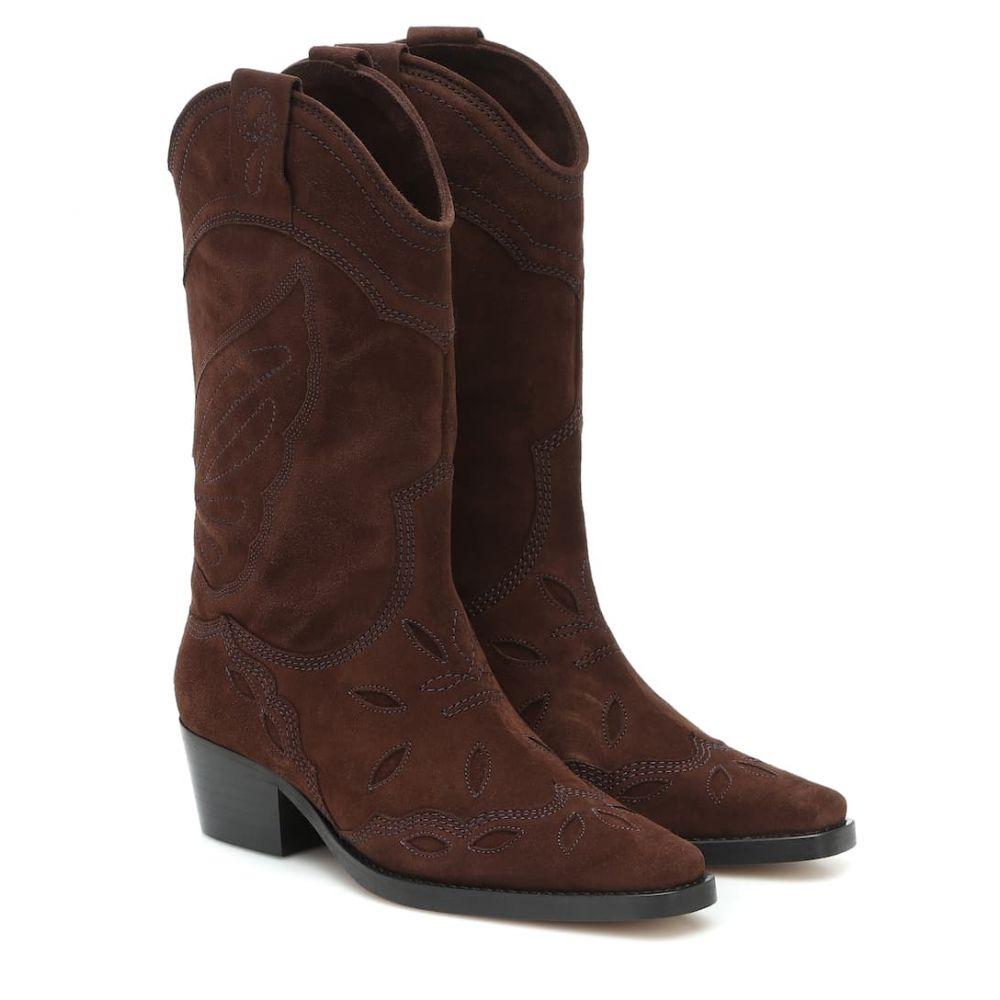 ガニー Ganni レディース ブーツ カウボーイブーツ シューズ・靴【high texas suede cowboy boots】Mole