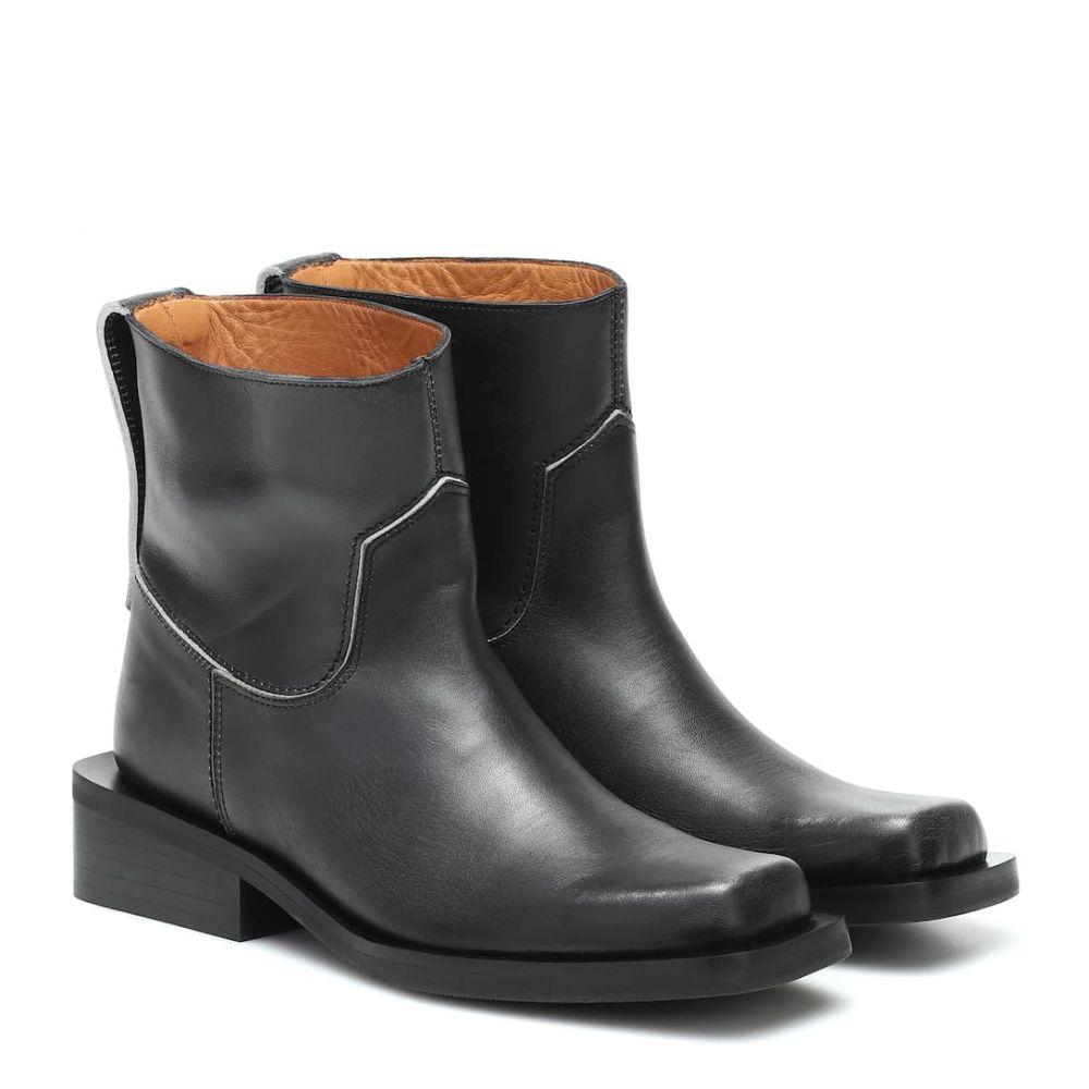 ガニー Ganni レディース ブーツ ショートブーツ シューズ・靴【low mc leather ankle boots】Black