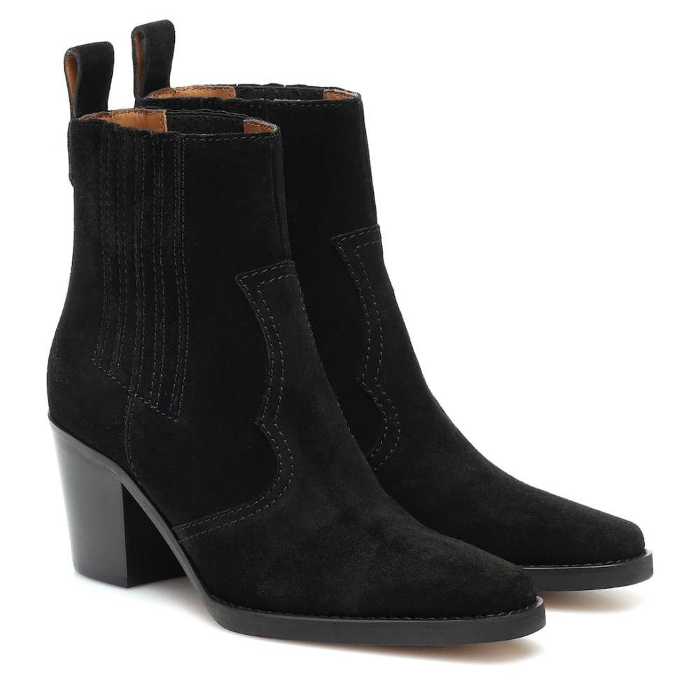 ガニー Ganni レディース ブーツ ショートブーツ ウェスタンブーツ シューズ・靴【western suede ankle boots】Black
