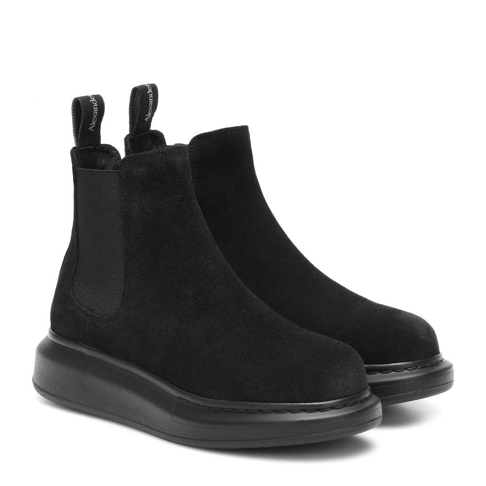 アレキサンダー マックイーン Alexander McQueen レディース ブーツ ショートブーツ シューズ・靴【suede ankle boots】Black/Black
