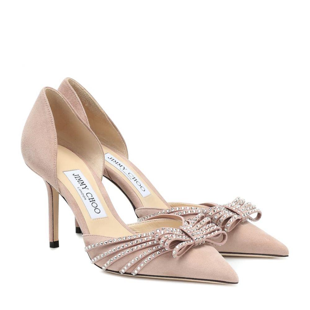 ジミー チュウ Jimmy Choo レディース パンプス シューズ・靴【kaitence 85 suede pumps】Ballet Pink/Silver Shade