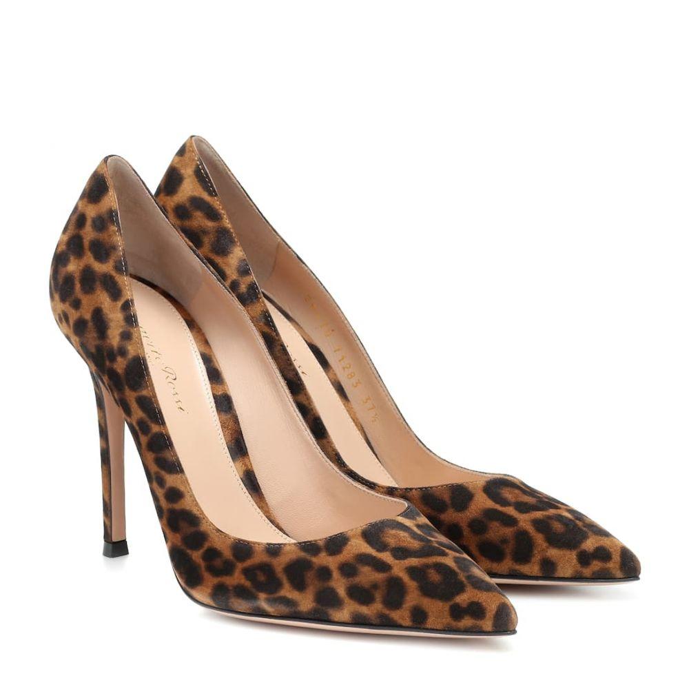 【楽天カード分割】 ジャンヴィト ロッシ Gianvito Rossi レディース パンプス シューズ・靴【leopard-print suede pumps】Almond Leopard Print, Rash 9676c2ec