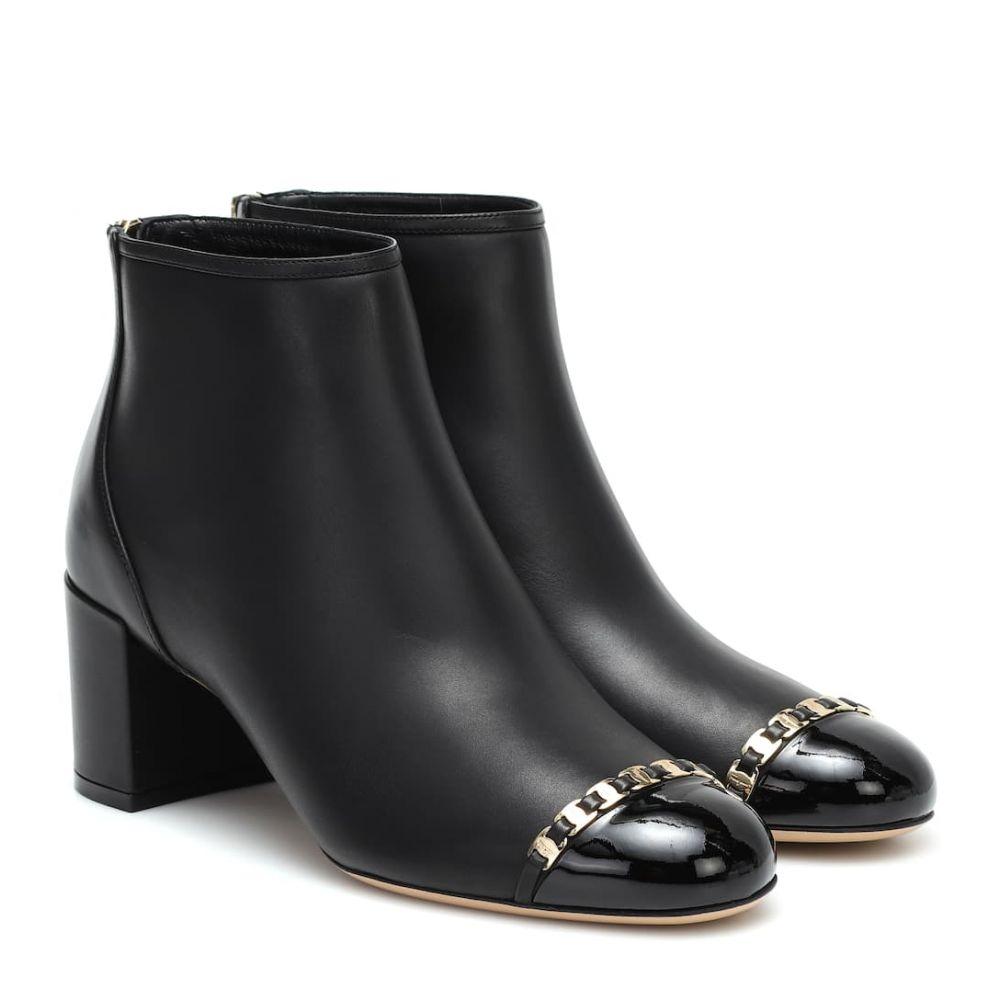 サルヴァトーレ フェラガモ Salvatore Ferragamo レディース ブーツ ショートブーツ シューズ・靴【vara chain leather ankle boots】Black