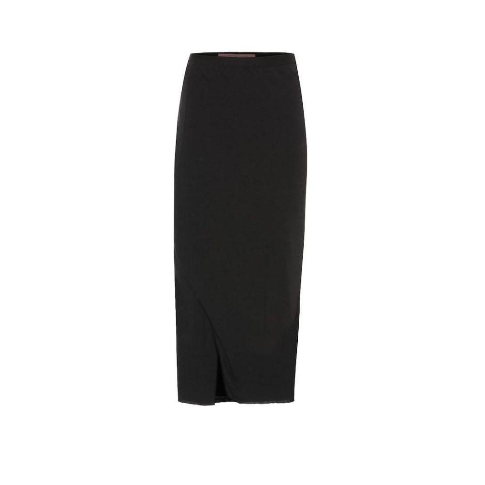 リック オウエンス Rick Owens レディース ひざ丈スカート スカート【lilies midi skirt】Black